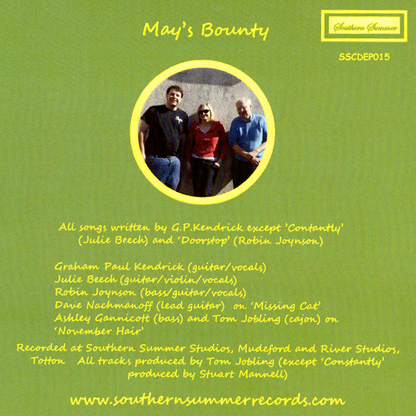 May's Bounty Backcover